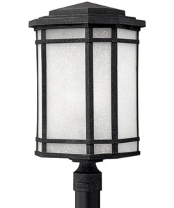 Hinkley Cherry Creek 1-Light Post Outdoor Vintage Black 1271VKGU24