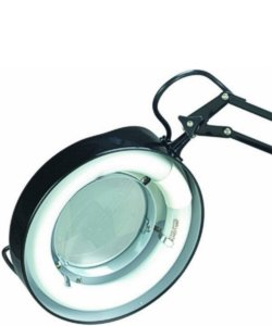 Lite Source Magnify-Lite 3-Diopter Magnifier Lamp Black LSM180BLK