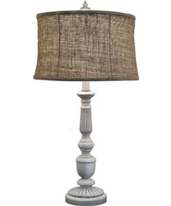 Stiffel Lamps 3-Way Table Lamp Distressed White TLA667DW